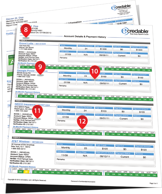 AMP Credit Report Details Page Two