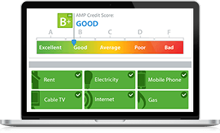 eCredable Screen Image of AMP Credit Score