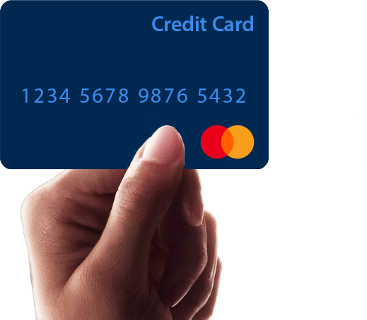 Credit Card and Hand image